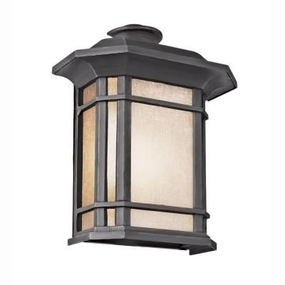 Bel Air Lighting Energy Saving 1 Light Outdoor Black Patio With Regard To Faunce Beveled Glass Outdoor Wall Lanterns (View 11 of 20)