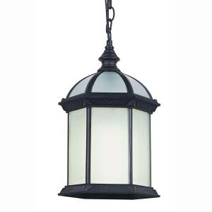 Bel Air Lighting Energy Saving 1 Light Outdoor Hanging Within Vendramin Black Glass Outdoor Wall Lanterns (View 15 of 20)
