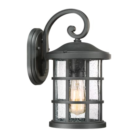 Bellevue Mvws9787etblk Earth Black Halifax Single Light 14 Intended For Vendramin Black Glass Outdoor Wall Lanterns (View 2 of 20)