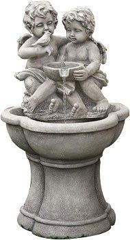 Best 5 Angel Statue Water Fountains/features In 2020 Reviews Inside Tilley Olde Bronze Water Glass Outdoor Wall Lanterns (View 7 of 20)