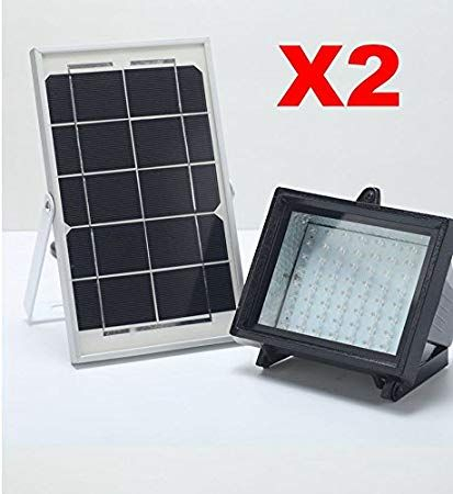 Bizlander X2 Pack 2018 New Commercial Grade 5w60led Solar Inside Abernethy Outdoor Wall Lanterns (View 19 of 20)