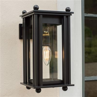 Black Carriage Lantern   Wall Mounted, Outdoor Lighting Intended For Clarence Black Outdoor Wall Lanterns (View 16 of 20)