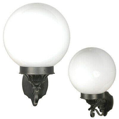 Black Deluxe Globe Outdoor Wall Lights Fixture Lantern With Malak Outdoor Wall Lanterns (View 17 of 20)