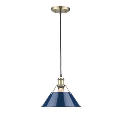 Blue – Pendant Lights – Lighting – The Home Depot Regarding Black  (View 16 of 20)