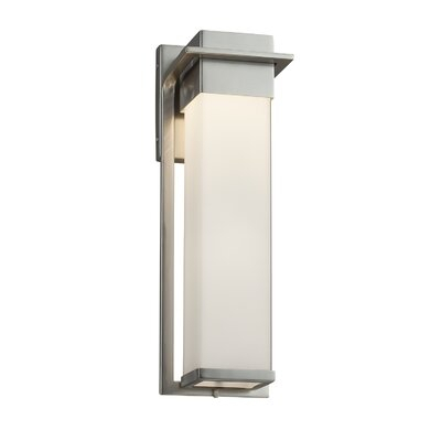 Brayden Studio® Luzerne Integrated Led Glass Outdoor Armed For Chazz Integrated Led Outdoor Armed Sconces (View 19 of 20)