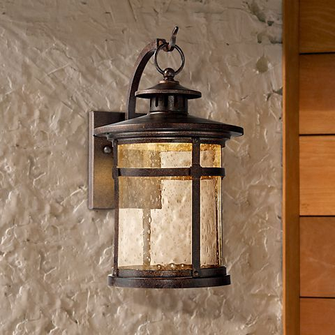 """Callaway 11 1/2"""" High Rustic Bronze Led Outdoor Wall Light For Tangier Dark Bronze Wall Lanterns (View 8 of 20)"""