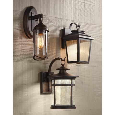 """Callaway 14 1/2"""" High Bronze Led Outdoor Wall Light In Chicopee 2 – Bulb Glass Outdoor Wall Lanterns (View 7 of 20)"""