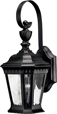 Camelot Small Porch Lantern With Clear Beveled Glass Regarding Powell Beveled Glass Outdoor Wall Lanterns (View 4 of 20)