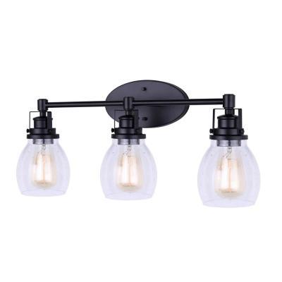 Canarm – Lighting – The Home Depot Inside Ketner Matte Black Integrated Led Seeded Glass Outdoor Flush Mount (View 9 of 20)