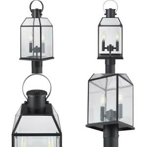Canton Heights 2 Light Matte Black Outdoor Post Lantern Pertaining To Keiki Matte Black Outdoor Wall Lanterns (View 4 of 20)
