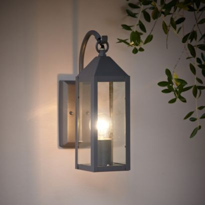 Capella Wall Light, 5052931097319 B&q Possible Interior Inside Gillett Outdoor Wall Lanterns (View 15 of 20)