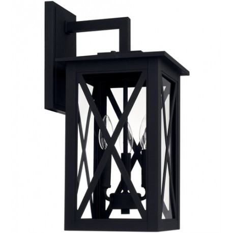 Capital Lighting 926631bk Avondale 3 Light 19 Inch Black Intended For Vendramin Black Glass Outdoor Wall Lanterns (View 20 of 20)