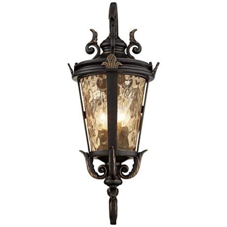 """Casa Marseille 21 1/2"""" High Bronze Outdoor Wall Light Within Chicopee 2 – Bulb Glass Outdoor Wall Lanterns (View 6 of 20)"""