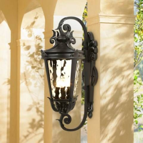 """Casa Marseille 27 1/2"""" High Black Outdoor Wall Light With Socorro Black Outdoor Wall Lanterns (View 17 of 20)"""