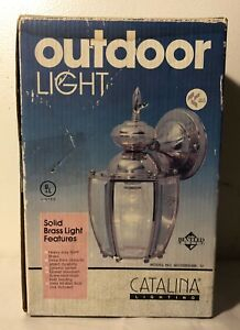 Catalina Solid Brass Lantern Outdoor Wall Light Fixture With Regard To Brookland Outdoor Wall Lanterns (View 17 of 20)