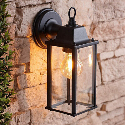 Cgc Black Lantern Glass Bevel Coach Wall Light Outdoor Intended For Bayou Beveled Glass Outdoor Wall Lanterns (View 8 of 20)