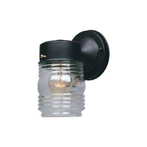 Charlton Home® Krajewski Black 7'' H Outdoor Wall Lantern Regarding Krajewski Wall Lanterns (View 6 of 20)