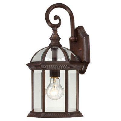 Charlton Home Vannest 1 Light Outdoor Wall Lantern Finish In Tangier Dark Bronze Wall Lanterns (View 3 of 20)