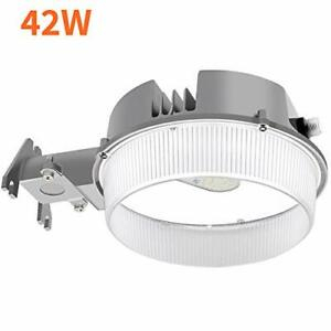 Cinoton Led Barn Light 42w, 5000k Daylight Dusk To Dawn Intended For Aleena Outdoor Barn Lights (View 20 of 20)