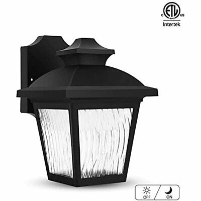 Classic Led Outdoor Wall Lantern With Dust To Dawn Sensor In Brook Black Seeded Glass Outdoor Wall Lanterns With Dusk To Dawn (View 18 of 20)