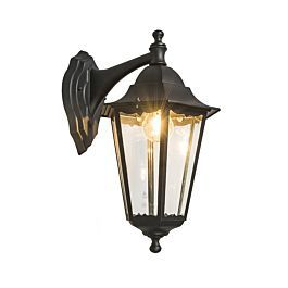 Classic Outdoor Wall Light Black Ip44 – New Orleans Down Throughout Palma Black/clear Seeded Glass Outdoor Wall Lanterns (View 17 of 20)