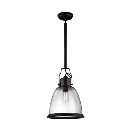 Clear Seeded Glass Oil Rubbed Bronze Full View   Pendant Intended For Verne Oil Rubbed Bronze Beveled Glass Outdoor Wall Lanterns (View 7 of 20)