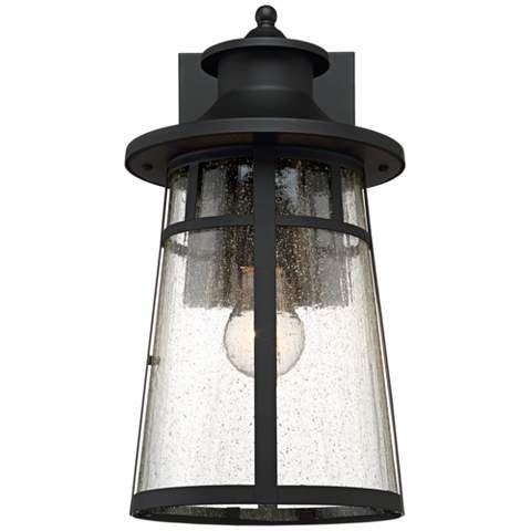 "Clement 15"" High Black Outdoor Wall Lights Set Of 2 Inside Nayen Black Wall Lanterns (View 6 of 20)"