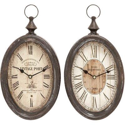 Cole & Grey 2 Piece Abernethy Wall Clock Set   Wayfair (View 15 of 20)