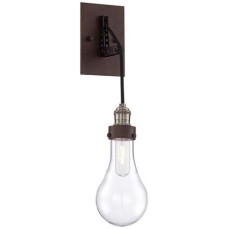 "Coleman Bronze 21 1/2"" High Hanging Glass Globe Wall With Krajewski Wall Lanterns (View 19 of 20)"