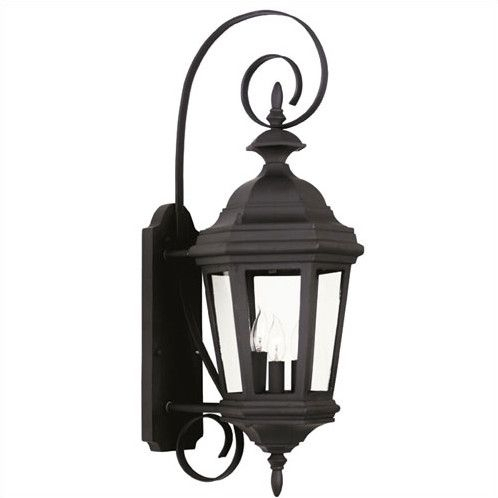 Customer Image Zoomed | Wall Lantern, Black Outdoor Wall Within Brook Black Seeded Glass Outdoor Wall Lanterns With Dusk To Dawn (View 4 of 20)