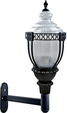 Dabmar Gm670 Led75 B Clear Acorn Modern Black Led Outdoor Throughout Jaceton Black Outdoor Wall Lanterns (View 4 of 20)