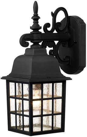 Dar Norfolk Coach House Downward Outdoor Wall Lantern Inside Nayen Black Wall Lanterns (View 16 of 20)