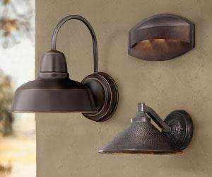 Dark Sky Outdoor Wall Lights | Lamps Plus Inside Feuerstein Black 16'' H Outdoor Wall Lanterns (View 1 of 20)