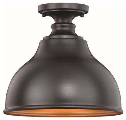 Delano Bronze Gold Farmhouse Barn Dome Outdoor Flush Mount Within Ranbir Oil Burnished Bronze Outdoor Wall Lanterns With Dusk To Dawn (View 19 of 20)