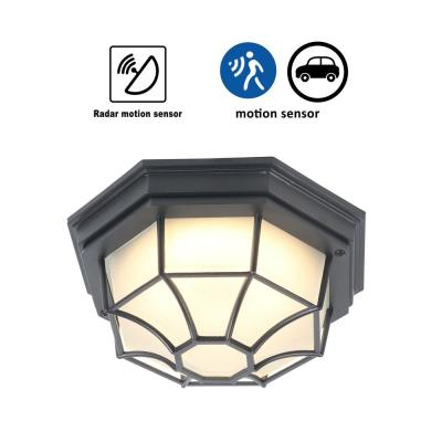 Dusk To Dawn – Outdoor Flush Mount Lights – Outdoor In Ballina Matte Black Outdoor Wall Lanterns With Dusk To Dawn (View 9 of 20)