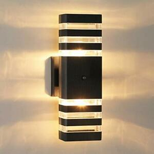 Dusk To Dawn Sensor Outdoor Wall Light Up And Down Porch With Ballina Matte Black Outdoor Wall Lanterns With Dusk To Dawn (View 20 of 20)