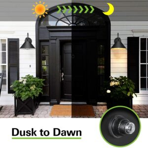 Dusk To Dawn Sensor Outdoor Wall Sconce, Exterior Wall For Ballina Matte Black Outdoor Wall Lanterns With Dusk To Dawn (View 13 of 20)