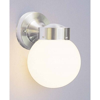Ebern Designs Silver Glass Outdoor Armed Sconce & Reviews In Dedmon Outdoor Armed Sconces (View 18 of 20)