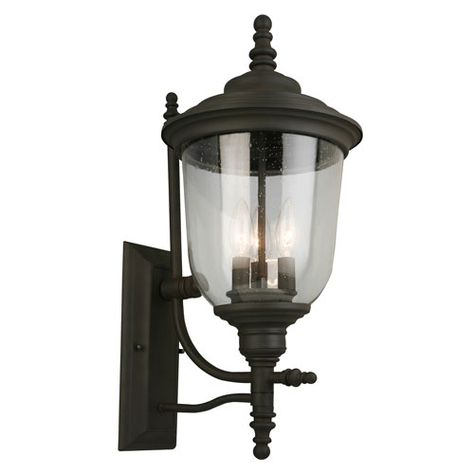 Eglo 202875a Pinedale Three Light Outdoor Wall Mount In Within Keiki Matte Black Outdoor Wall Lanterns (View 14 of 20)