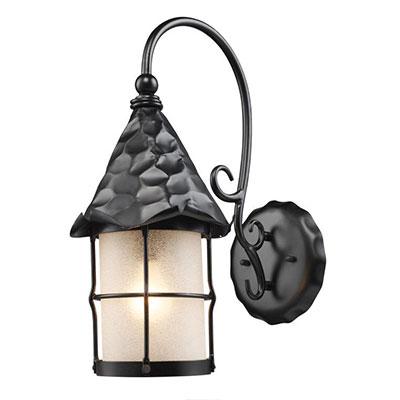 Elk Lighting Rustica Large Wall Lantern – Matte Black Throughout Garneau Black Wall Lanterns (View 19 of 20)