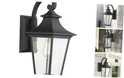 Emliviar Outdoor Wall Lantern, 1 Light Exterior Wall Mount Throughout Caroline Outdoor Wall Lanterns (View 12 of 20)
