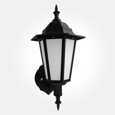 Eterna Outdoor Ip44 7w Led Black Wall Lantern For Borde Black Outdoor Wall Lanterns (View 7 of 20)