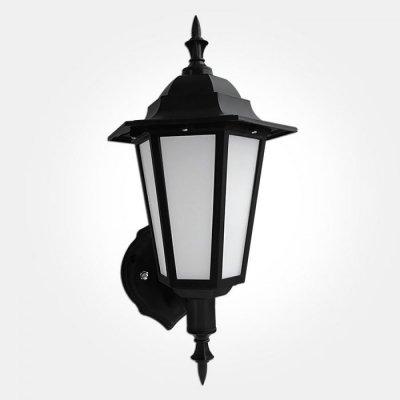 Eterna Outdoor Ip44 7w Led Black Wall Lantern For Socorro Black Outdoor Wall Lanterns (View 6 of 20)