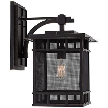 "Evanston 17"" High Bronze Mesh Outdoor Wall Light – #8n039 Inside Tangier Dark Bronze Wall Lanterns (View 10 of 20)"