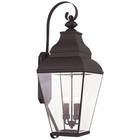 """Exeter 36"""" High Bronze Outdoor Wall Light – #42n12   Lamps With Bayou Beveled Glass Outdoor Wall Lanterns (View 3 of 20)"""