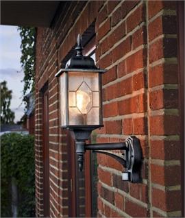 Exterior Pir Sensor Wall Light   Lighting Styles Pertaining To Roden Black 3 Bulb Outdoor Wall Lanterns (View 5 of 20)