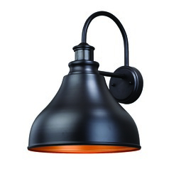 Farmhouse Barn Light Outdoor Wall Light Bronze Delano Intended For Ranbir Oil Burnished Bronze Outdoor Wall Lanterns With Dusk To Dawn (View 3 of 20)