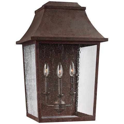 """Feiss Este 23"""" High Patina Copper Outdoor Wall Light Inside Clarence Black Outdoor Wall Lanterns (View 14 of 20)"""