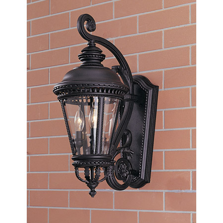 Feiss Ol1901bk Castle Outdoor Wall Lantern Pertaining To Rockmeade Black Outdoor Wall Lanterns (View 4 of 20)