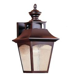 Feiss One Light Oil Rubbed Bronze Thick Clear Seeded Glass Inside Heinemann Rubbed Bronze Seeded Glass Outdoor Wall Lanterns (View 4 of 20)